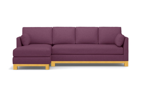 Avalon 2pc Sectional Sofa :: Leg Finish: Natural / Configuration: LAF - Chaise on the Left