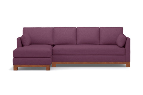 Avalon 2pc Sectional Sofa :: Leg Finish: Pecan / Configuration: LAF - Chaise on the Left