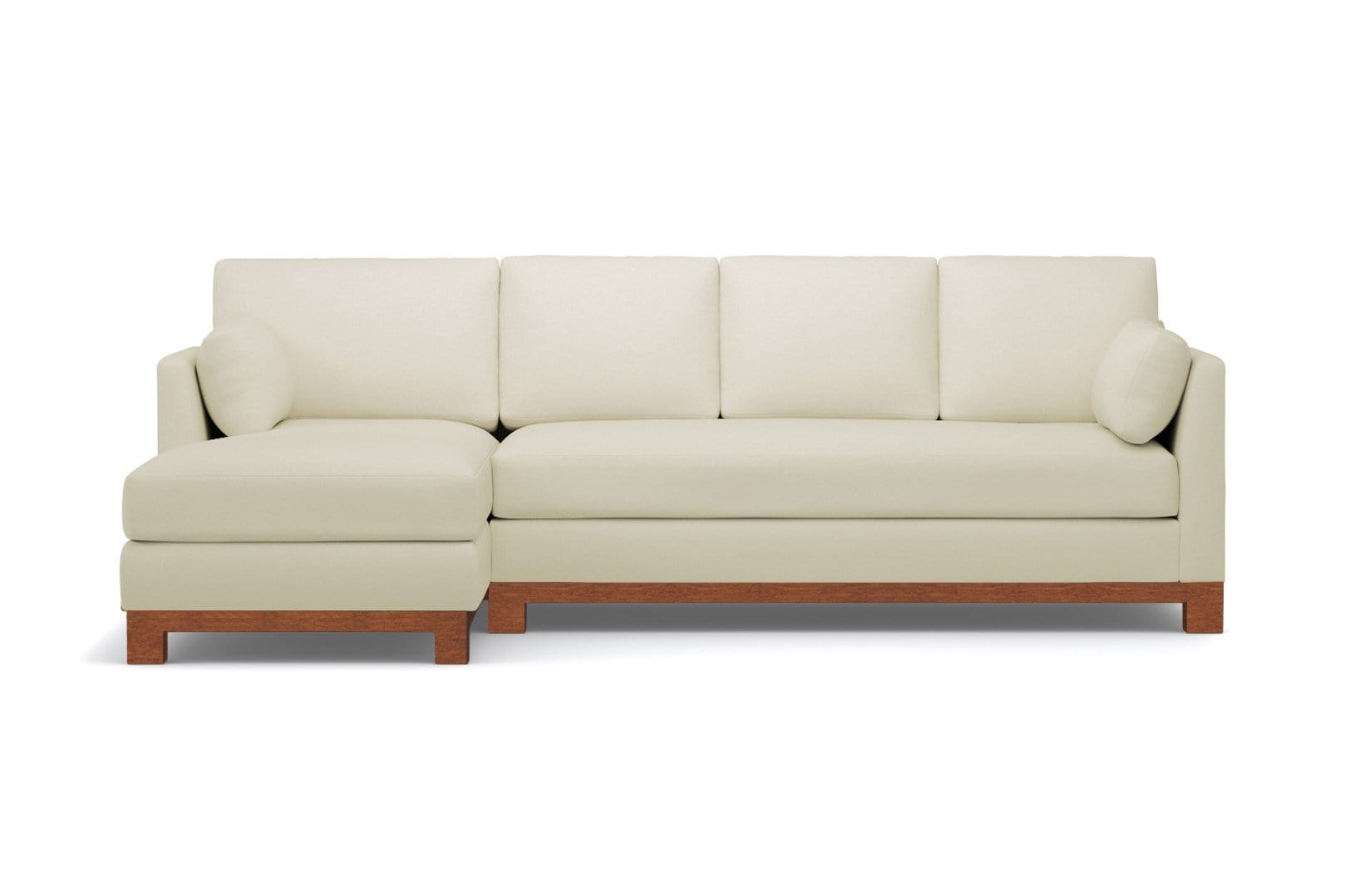 Avalon 2pc Sleeper Sectional - Beige -  Pull Out Couch Bed Made in the USA - Sold by Apt2B