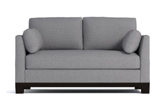 Avalon Twin Size Sleeper Sofa :: Leg Finish: Espresso / Sleeper Option: Deluxe Innerspring Mattress
