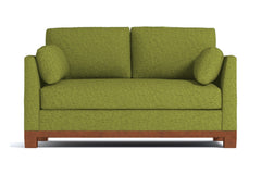 Avalon Twin Size Sleeper Sofa :: Leg Finish: Pecan / Sleeper Option: Deluxe Innerspring Mattress