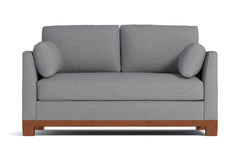Avalon Apartment Size Sleeper Sofa :: Leg Finish: Pecan / Sleeper Option: Deluxe Innerspring Mattress