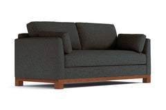 Avalon Queen Size Sleeper Sofa :: Leg Finish: Pecan / Sleeper Option: Deluxe Innerspring Mattress