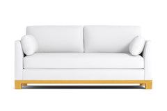 Avalon Queen Size Sleeper Sofa :: Leg Finish: Natural / Sleeper Option: Deluxe Innerspring Mattress