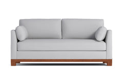 Avalon Queen Size Sleeper Sofa :: Leg Finish: Pecan / Sleeper Option: Memory Foam Mattress