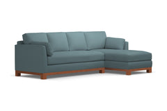 Avalon 2pc Sleeper Sectional :: Leg Finish: Pecan / Sleeper Option: Deluxe Innerspring Mattress / Configuration: RAF - Chaise on the Right