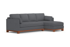 Avalon 2pc Sectional Sofa :: Leg Finish: Pecan / Configuration: RAF - Chaise on the Right