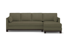 Avalon 2pc Sleeper Sectional :: Leg Finish: Espresso / Sleeper Option: Memory Foam Mattress / Configuration: RAF - Chaise on the Right