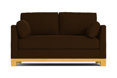 Avalon Twin Size Sleeper Sofa :: Leg Finish: Natural / Sleeper Option: Deluxe Innerspring Mattress