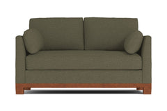 Avalon Apartment Size Sleeper Sofa :: Leg Finish: Pecan / Sleeper Option: Memory Foam Mattress