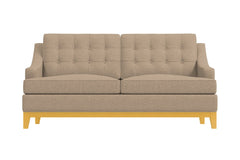 Bannister Apartment Size Sleeper Sofa :: Leg Finish: Natural / Sleeper Option: Memory Foam Mattress