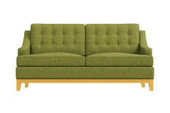 Bannister Twin Size Sleeper Sofa :: Leg Finish: Natural / Sleeper Option: Deluxe Innerspring Mattress