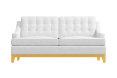 Bannister Twin Size Sleeper Sofa :: Leg Finish: Natural / Sleeper Option: Memory Foam Mattress