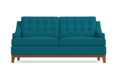Bannister Apartment Size Sleeper Sofa :: Leg Finish: Pecan / Sleeper Option: Deluxe Innerspring Mattress