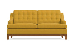 Bannister Apartment Size Sleeper Sofa :: Leg Finish: Pecan / Sleeper Option: Memory Foam Mattress