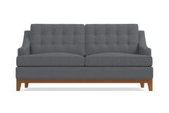 Bannister Twin Size Sleeper Sofa :: Leg Finish: Pecan / Sleeper Option: Memory Foam Mattress