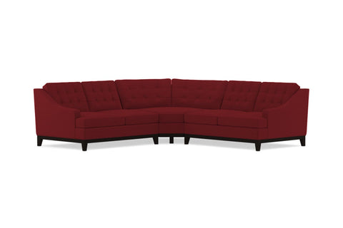 Bannister 3pc Sectional Sofa :: Leg Finish: Espresso
