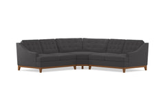 Bannister 3pc Sectional Sofa :: Leg Finish: Pecan