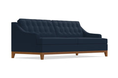 Bannister Queen Size Sleeper Sofa :: Leg Finish: Pecan / Sleeper Option: Deluxe Innerspring Mattress