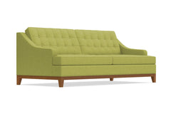 Bannister Queen Size Sleeper Sofa :: Leg Finish: Pecan / Sleeper Option: Memory Foam Mattress