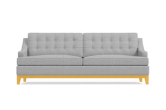 Bannister Queen Size Sleeper Sofa :: Leg Finish: Natural / Sleeper Option: Memory Foam Mattress