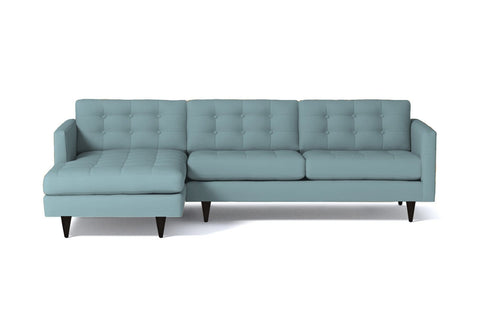 Beverly 2pc Sectional Sofa :: Leg Finish: Espresso / Configuration: LAF - Chaise on the Left