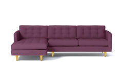 Beverly 2pc Sectional Sofa :: Leg Finish: Natural / Configuration: LAF - Chaise on the Left