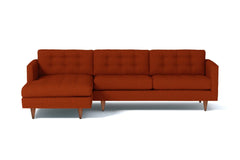 Beverly 2pc Sectional Sofa :: Leg Finish: Pecan / Configuration: LAF - Chaise on the Left