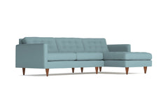 Beverly 2pc Sectional Sofa :: Leg Finish: Pecan / Configuration: RAF - Chaise on the Right