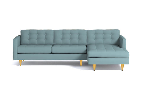 Beverly 2pc Sectional Sofa :: Leg Finish: Natural / Configuration: RAF - Chaise on the Right