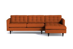 Beverly 2pc Sectional Sofa :: Leg Finish: Espresso / Configuration: RAF - Chaise on the Right