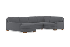Bradbury 3pc Sectional Sofa :: Leg Finish: Pecan / Configuration: LAF - Chaise on the Left