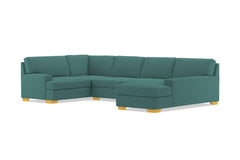 Bradbury 3pc Sectional Sofa :: Leg Finish: Natural / Configuration: RAF - Chaise on the Right
