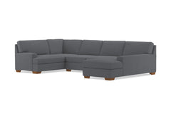Bradbury 3pc Sectional Sofa :: Leg Finish: Pecan / Configuration: RAF - Chaise on the Right
