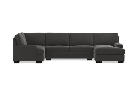 Bradbury 3pc Sectional Sofa :: Leg Finish: Espresso / Configuration: RAF - Chaise on the Right