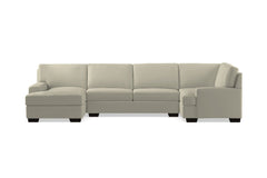 Bradbury 3pc Sectional Sofa :: Leg Finish: Espresso / Configuration: LAF - Chaise on the Left