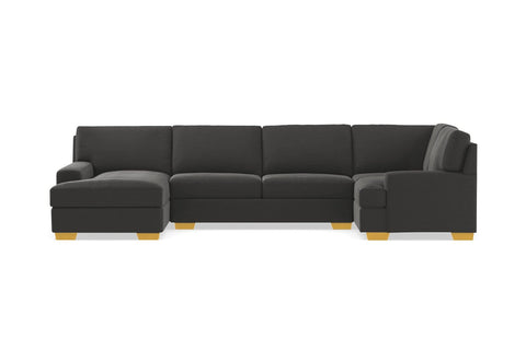 Bradbury 3pc Sectional Sofa :: Leg Finish: Natural / Configuration: LAF - Chaise on the Left