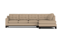 Brentwood 2pc Sleeper Sectional :: Leg Finish: Espresso / Configuration: RAF - Chaise on the Right / Sleeper Option: Memory Foam Mattress