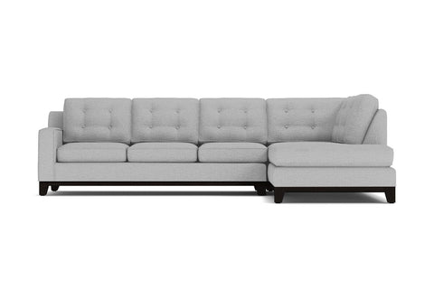 Brentwood 2pc Sectional Sofa :: Leg Finish: Espresso / Configuration: RAF - Chaise on the Right