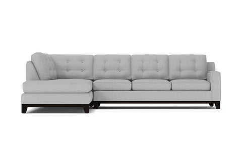 Brentwood 2pc Sectional Sofa :: Leg Finish: Espresso / Configuration: LAF - Chaise on the Left