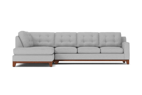 Brentwood 2pc Sleeper Sectional :: Leg Finish: Pecan / Configuration: LAF - Chaise on the Left / Sleeper Option: Memory Foam Mattress