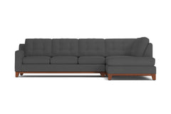 Brentwood 2pc Sleeper Sectional :: Leg Finish: Pecan / Configuration: RAF - Chaise on the Right / Sleeper Option: Deluxe Innerspring Mattress