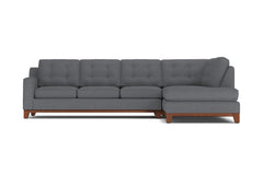 Brentwood 2pc Sectional Sofa :: Leg Finish: Pecan / Configuration: RAF - Chaise on the Right