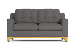 Brentwood Apartment Size Sleeper Sofa :: Leg Finish: Natural / Sleeper Option: Innerspring Mattress