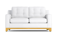 Brentwood Apartment Size Sleeper Sofa :: Leg Finish: Natural / Sleeper Option: Memory Foam Mattress