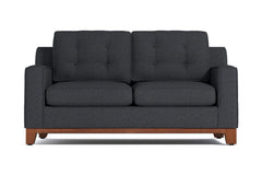 Brentwood Apartment Size Sleeper Sofa :: Leg Finish: Pecan / Sleeper Option: Innerspring Mattress