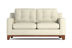 Brentwood Twin Size Sleeper Sofa :: Leg Finish: Pecan / Sleeper Option: Deluxe Innerspring Mattress