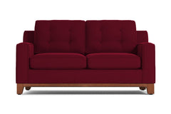 Brentwood Apartment Size Sleeper Sofa :: Leg Finish: Pecan / Sleeper Option: Memory Foam Mattress