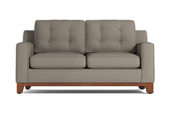 Brentwood Twin Size Sleeper Sofa :: Leg Finish: Pecan / Sleeper Option: Memory Foam Mattress