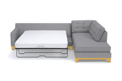Brentwood 2pc Sleeper Sectional :: Leg Finish: Natural / Configuration: LAF - Chaise on the Light / Sleeper Option: Deluxe Innerspring Mattress